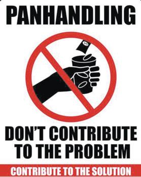 07Anti panhandling sign