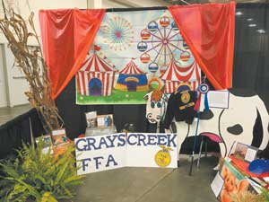 14 Grays Creek FFA wining fair booth