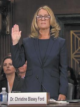 16Christine Blasey Ford swearing in