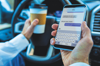 Distracted driving — the  scary reality