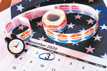 13 01 calendar marked november third 2020 presidential elections 47726 7584