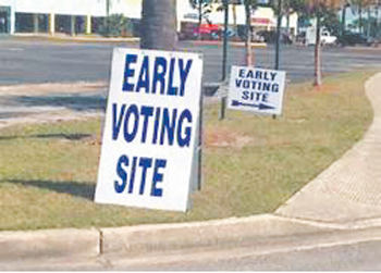 08 early voting sign
